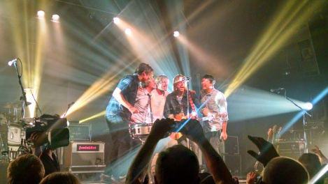 Switchfoot playing at First Ave. in Mineapolis. I took this photo during their acoustic version of Hello Hurricane.